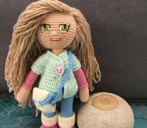 Pin by Wizard Rose on Crochet dolls in 2020 | Crochet dolls free ... | 435x500